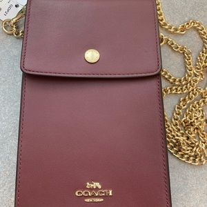 New with tags Coach crossbody phone purse